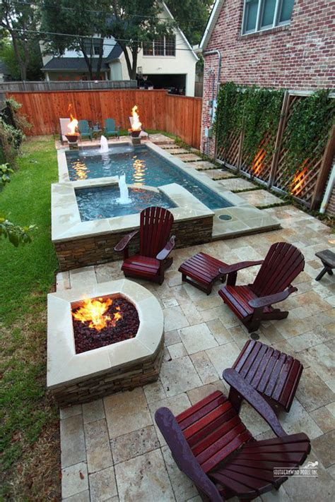 backyard with firepit narrow backyard pool with firepit