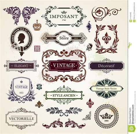 calligraphic vintage design elements vector illustration vintage design elements royalty free stock photo image