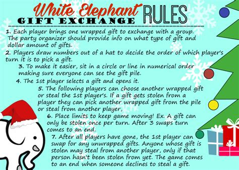 white elephant gift exchange tips and free printables