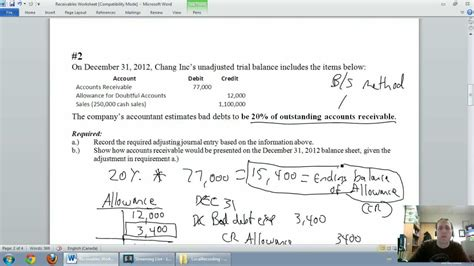 accounting unit 5 part 3 allowance for doubtful