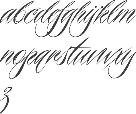 tattoo lettering alphabet script myfonts tattoo fonts