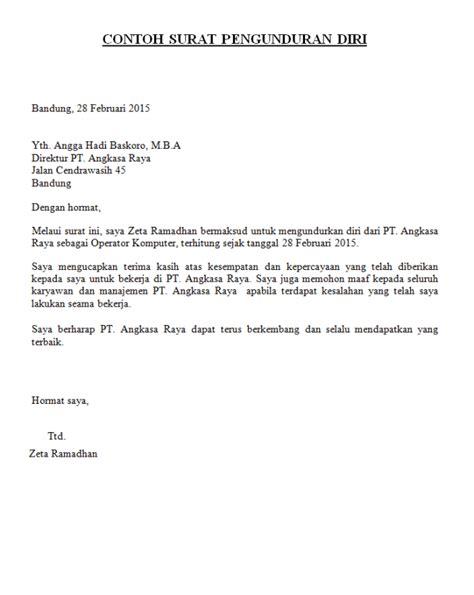 contoh surat pengunduran diri dari komite sekolah 15 macam contoh surat pengunduran diri dengan sopan dan benar