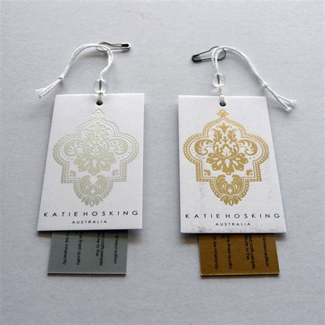 Hang Tag Label Tag Baju Aksesoris Fashion Sticker Murah Grosir Newcute qab printing hk