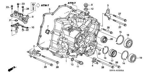 25812 P7w A01 Genuine Honda Gasket Passage Body Atf