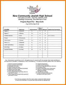 Report Card Template High School by 4 High School Report Card Template Card Authorization 2017
