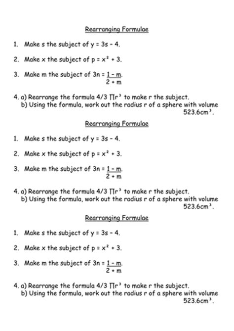 Rearranging Equations Worksheet Answers by Rearranging Formulae Gcse Higher By Missnorledge