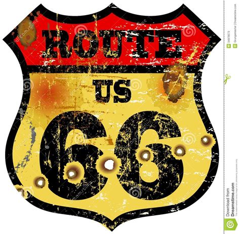route 66 stock vector image of american famous classic