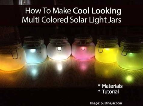 How To Make Solar Jar Lights How To Make Solar Powered Jar Lights Trusper
