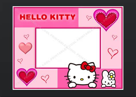 Hello Birthday Card Template Free Hello Kitty Blank Invitation Birthday Thank You By