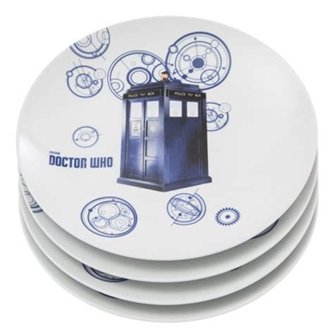 10 plate ceramic set doctor who 10 inch ceramic plate 4 pack set