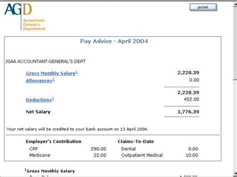 payment advice template click on the month to retrieve the pay advice you can