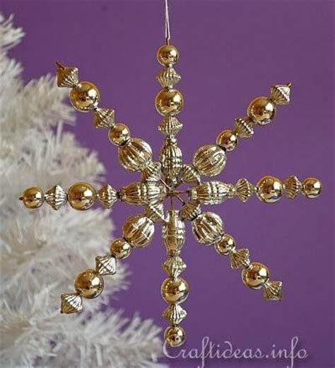 razzle dazzle beaded snowflake ornament