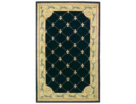 kas area rugs kas rugs black fleur de lis area rug 307