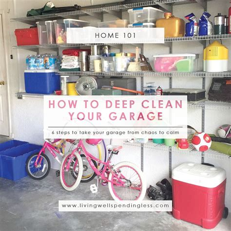 7 Tips On Cleaning A Garage by How To Clean Your Garage Living Well Spending Less 174