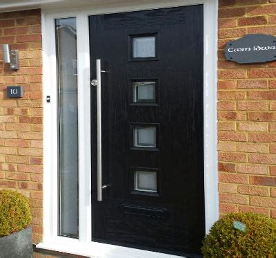 Composite Door Installers Custom Designs High Security Modern Black Front Doors