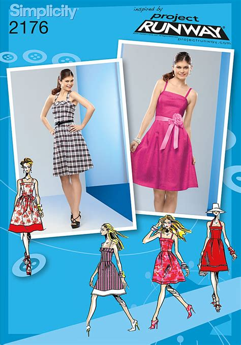 pattern runway review simplicity 2176 misses miss petite dresses project