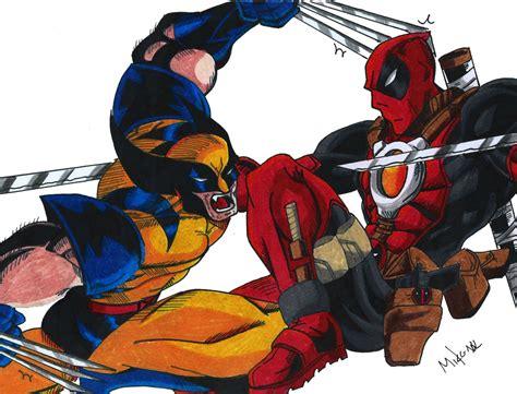 imágenes de deadpool vs wolverine dibujos de deadpool vs wolverine poster