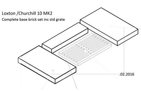 l ch 10kw brick part base set emg grate to plain grate