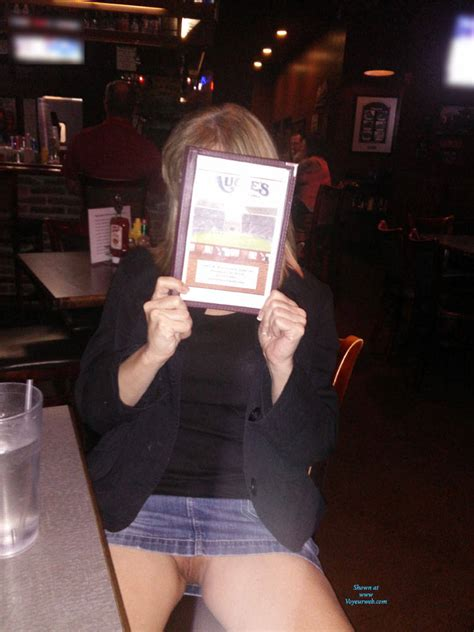 pantyless at the bar april 2016 voyeur web
