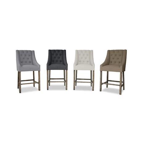 gray linen counter stool premium linen various colors barstool