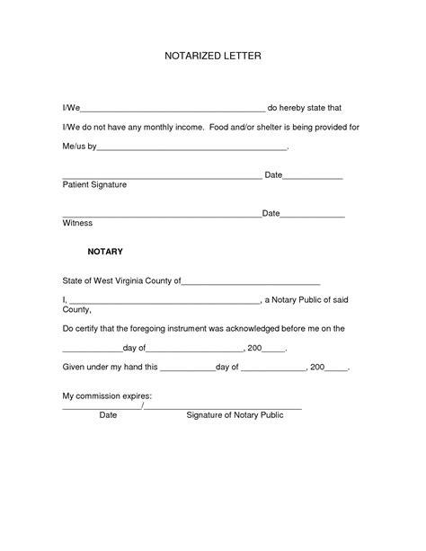 template of notarized letter exle of notarized letter revolutioncinemarentals