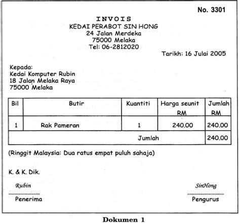 Kertas Invoice contoh invoice asal contoh ked
