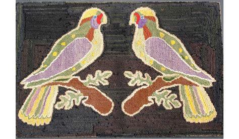 parrot rug parrot hooked rug just folk