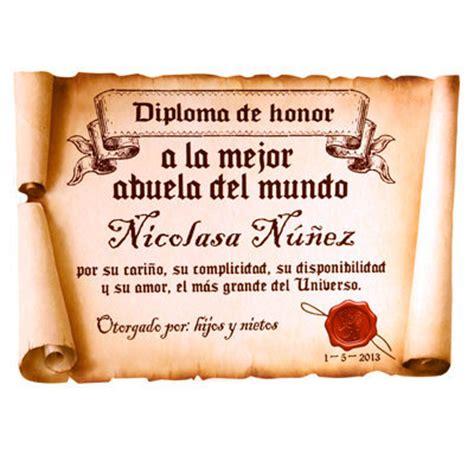 certificado a la mejor abuela del mundo para imprimir gratis picture diploma pergamino a la mejor abuela