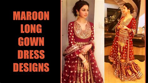 Dress Alaer Maroon Lg maroon gown dress designs 2017