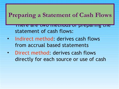 Flow Statement Ppt For Mba by Statement Of Flows Systems Ppt Bec Doms Bagalkot