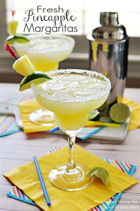 pineapple margarita fresh pineapple margaritas grows