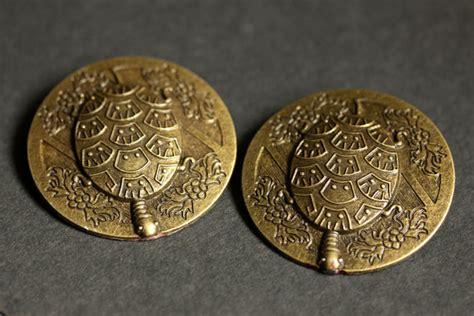 Pin Peniti 48mm Design Bebas Custom Pin set of two viking brooches norse turtle brooches bronze