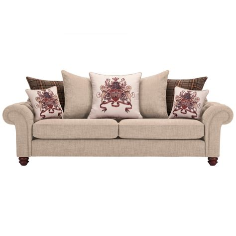 beige sofa with pillows sandringham 4 seater pillow back sofa in beige scatters