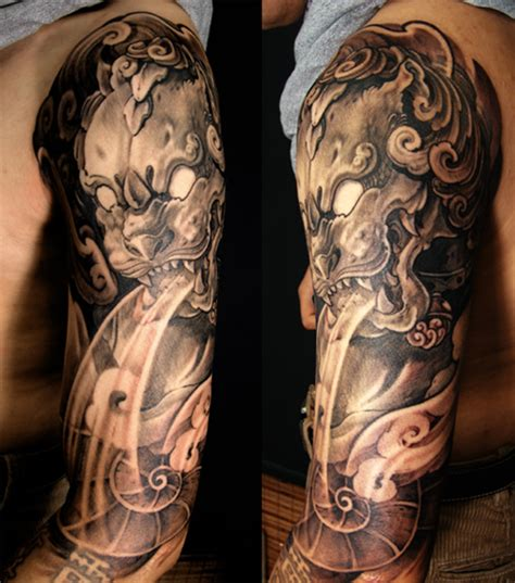 amazing foo dog tattoo ideas tattoos mob