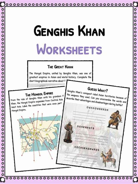 Genghis Khan Essay by 100 Industrial Revolution Worksheets Pdf Resources Child Labour Test Assessment The