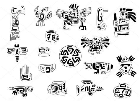 imagenes de simbolos indios conjunto de s 237 mbolos ind 237 genas estilizadas vector de
