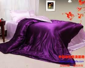 purple pink silk comforter bedding set satin for king