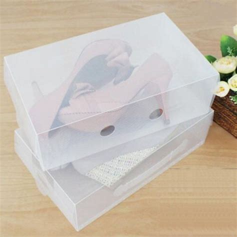 clear shoe storage boxes portable transparent clear plastic shoe storage box