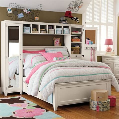 pb teen beds hton storage bed mirror tower set beds other by