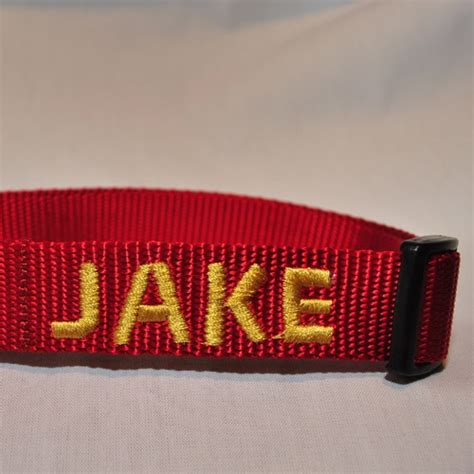 collar with name embroidered personalized custom embroidered name collar 1 quot wide crossed paw collars