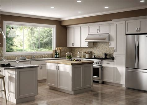 10x10 Kitchen Cabinets 1000 by All Wood Rta 10x10 Luxor White Shaker Classic Kitchen