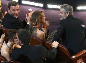 George Clooney Kisses For The Right Price by Oscars 2013 Obama Presents Best Picture Award To