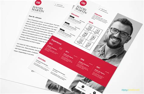 clean simplistic psd indesign ms word resume cover