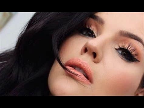 tutorial makeup natural peach pretty in peach makeup tutorial youtube