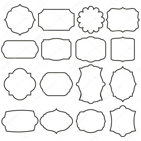 cornici grafiche set di cornici di grafica vettoriale vettoriali stock
