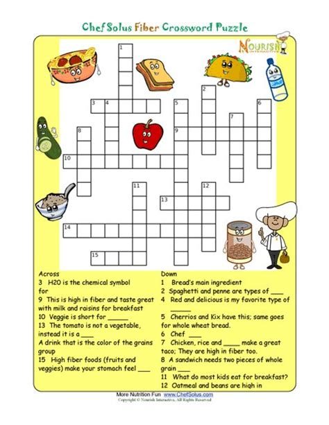 printable nutrition puzzles for adults printable crossword puzzles for 5th graders crossword