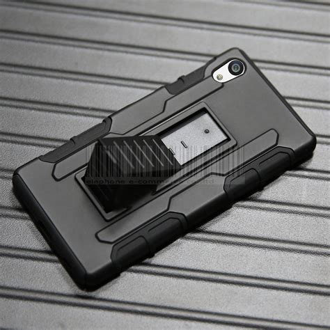 Sony Xperia Z5 Premium Rugged Armor Stand Hardcase Softcase Cover rugged heavy duty protective hybrid armor cover for sony xperia z5 lcd ebay