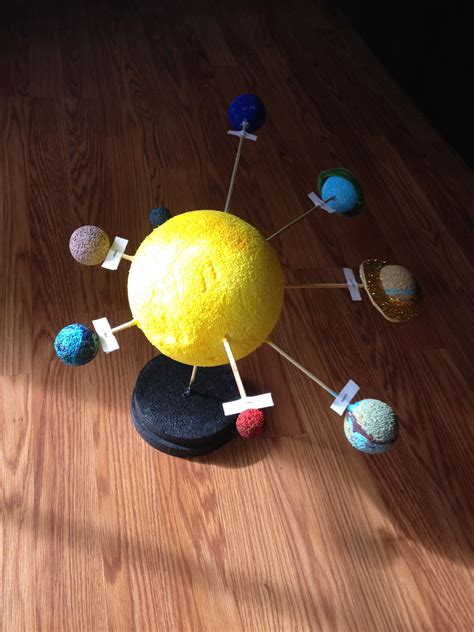 Solar System Handmade - solar system models for school pics about space