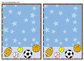 sport templates free free sports baby shower invitations templates