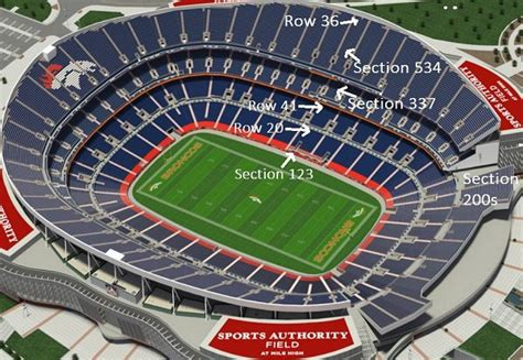 denver broncos stadium seating chart broncos seating chart sports authority field mile high